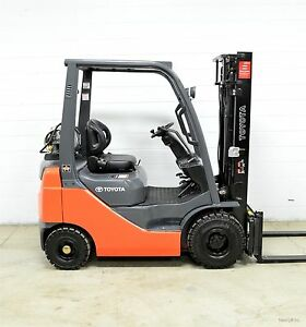 Nice 2011 Toyota 3000 Lb Lpg Pneumatic Forklift Side Shift 8fgu15 Air Tires