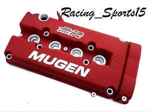 Mugen Style Engine Valve Cover For B16 B18 Honda Civic Si Dohc Vtec Red