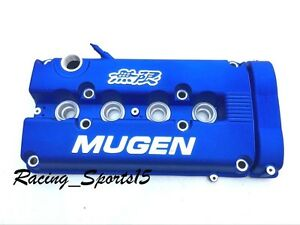 Mugen Style Engine Valve Cover For B16 B18 Honda Civic Si Dohc Vtec Blue