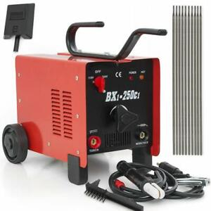 250 Amp Arc Welder Mig 110 220 Dual Voltage Ac Welding Machine With Face Mask