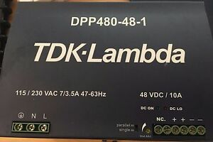 Tdk Lambda Dpp480 48 1 Power Supply 48vdc 10a