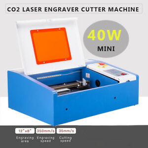 40w Co2 Laser Engraver Cutting Machine Crafts Cutter W Water break Protection