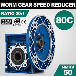 Mrv050 Worm Gear 20 1 80c Speed Reducer Free Warranty 1750rpm Electric