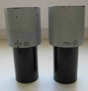Pair Carl Zeiss Jena Eyepiece P 10x 20 Microscope Technival Citoval