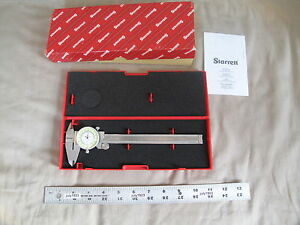 1 New Starrett 1202f 6 Fractional Dial Caliper With Case 0 6