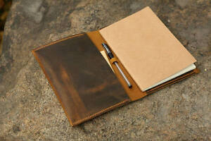 Vintage Retro Leather Cover Case For A5 Notebook A5 Refillable Leather Journal