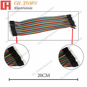 40pcs 20cm Dupont Wire Male To Male Breadboard Jumper Wires Ribbon Cable Arduino