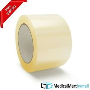 144 Rolls Of 3 Inch Clear Box Packing Shipping Tape X 110 Yards 1 7 Mil Thick