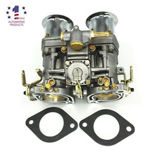 New 44idf Carburetor With Air Horn Fit For Bug Beetle Vw Fiat Porsche