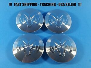 4 New Center Caps For Dodge 93 2007 2 5 52005732 Center Logo Cap Rim Emblem