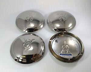 Set Of 4 V8 Logo Hubcaps For 1934 Ford Car Pickup Truck one Single Ring