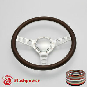 14 Billet Steering Wheel Wood Half Wrap Chevrolet Monte Carlo Camaro W Horn