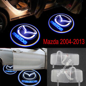 2x Led Mazda Logo Door Step Courtesy Laser Projector Light For Mazda 6 2004 2013