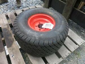 24x12 00 10 Premium 4 Ply Turf Tire On A Kubota Rim For Lawn Mowers
