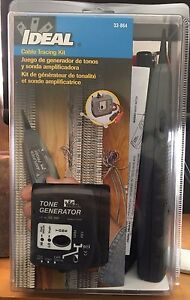 Ideal Cable Tracing Kit 33 864 Tone Generator new In Box