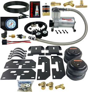 Air Tow Assist Kit White Gauge In Cab Management 2014 2018 Dodge Ram 3500 Truck