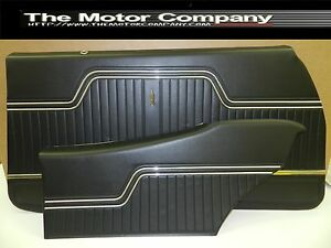 1970 1971 1972 Chevelle Front Rear Coupe Interior Door Panels In Black J 7000
