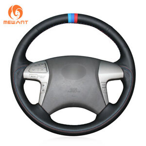 Soft Genuine Leather Steering Wheel Cover For Toyota Highlander Camry 2007 2011