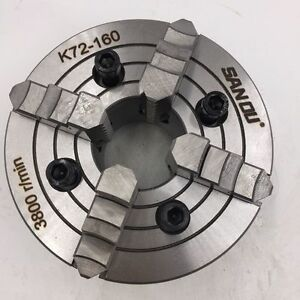 Sanou 6 Inch 6 4 Jaw 160mm Independent Lathe Chuck 4 m10 For Cn Clathe Fixture