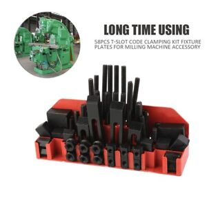 58 Pcs Pro series 5 8 T slot Clamping Kit Bridgeport Mill Set Up Set 1 2 13 Bg