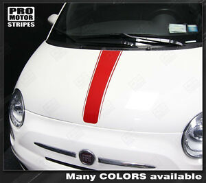 Fiat 500 2007 2015 Center Hood Accent Stripe Decal Choose Color