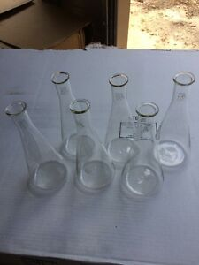 Lot Of 6 Pyrex Lab Glassware Beaker 450ml