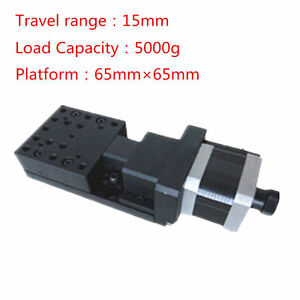 X axis 5 pulse 5kg Bearing 15mm Travel Motorized Linear Stages For Microscope