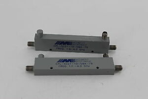Midwest Microwave Cpl 5221 10 sma 79 Coaxial Connectors 1 4 Ghz Cplr