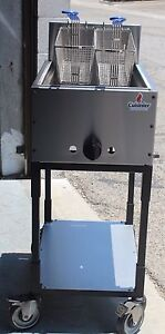Food Cart Double Fryer Stainless Steel Portable