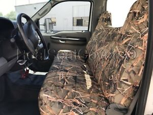 Automotive Grade F23 10mm Thick Triple Stitched Muddy Camo Bench Seat Cover