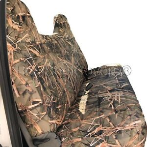 F series F23 Muddy Water Camo Full Bench Seat Cover Molded Headrest For Ford