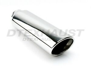 Different Trends Dt 24053a 16 Stainless Exhaust Tip Double Wall Oval Round 16