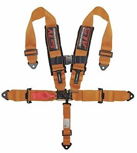 Orange Latch And Link 5 Points Safety Harness With Ultra Comfort Heavy Duty