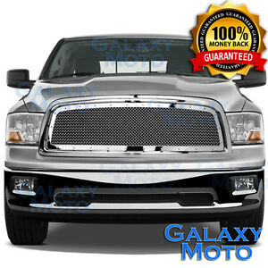 09 12 Dodge Ram Truck 1500 Front Hood Chrome Mesh Grille Rivet Replacement Shell