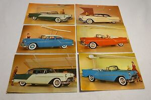 6 Vtg 1950 S Era Oldsmobile Dealer Promotional Cards Sheboygan Wi Dealer