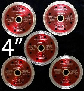 Vd Turbo Rim Thin Mesh Diamond Saw Blade Porcelain Granite Tile 4 5 Blades