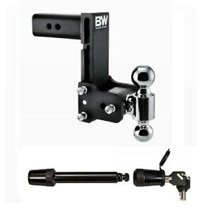 B W Hitches Drop Rise Dual Ball Mount 5 8 Receiver Hitch Lock