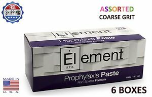 Element Prophy Paste Cups Assorted Coarse 200 box Dental W fluoride 6 Boxes