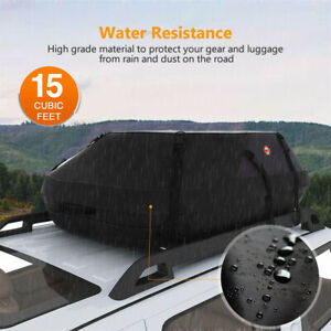 Roof Top Cargo Waterproof Carrier Bag Rack Storage Luggage Auto Car Travel Us E9