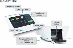 First data Clover mini pos apple pay emv printer credit card machine