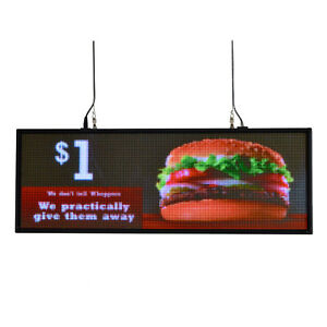39 x14 Programmable Led Sign Store Window Display Images Thumb Drive Upload