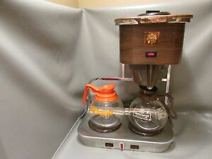 Vintage Commercial Coffee inn 2 Warmer Coffee Brewer Retro Look