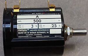 Helipot Potentiometer Model A Precision Potentiometer 500