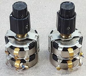 Lot Of 2 Clarostat Double Potentiometer 2100 2942 10 1 1k