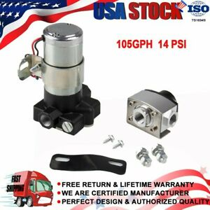 New High Performance Electric Fuel Pump 105 Gph Flow 12 Volt 14 Psi Max Pressure