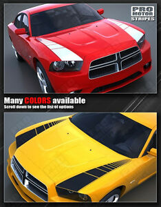 Dodge Charger 2011 2014 Racing Hood Side Accent Stripes Decals choose Color