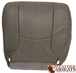 2004 Dodge Ram Driver Side Bottom Synthetic Leather Seat Cover Gray