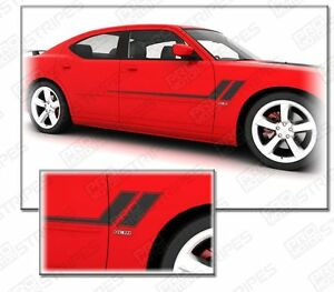 Dodge Charger 2006 2010 Speed Side Accent Stripes Decals Choose Color