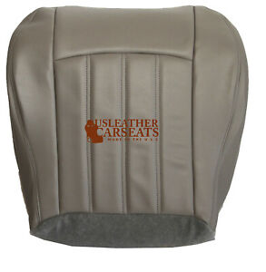 2005 2010 Chrysler 200 300 Driver Side Bottom Leather Seat Cover Gray Stone