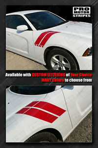 Dodge Charger 2011 2014 Fender Hash Side Accent Stripes Decals Choose Color